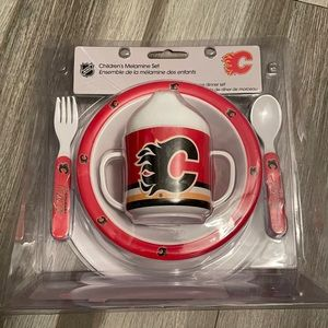 🌴2/$25🌴 NHL Children's Dinner Set/Calgary Flames